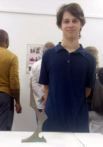 Josiah Vice at his portfolio show in England
